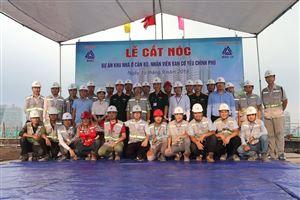 Công ty MHDI 10 tổ chức lễ cất nóc Dự án khu nhà ở cán bộ, nhân viên Ban Cơ yếu Chính phủ - Lê Văn Lương, Tp. Hà Nội.