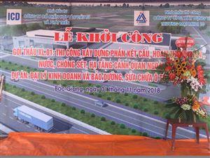 Công ty MHDI10 tổ chức khởi công dự án Đại lý kinh doanh và bảo dưỡng, sửa chữa ô tô 3S Bắc Giang